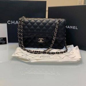 For Authentication - CHANEL Double Flap Silver HW
